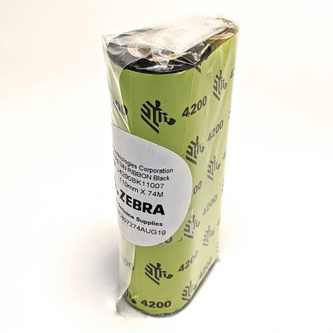 Zebra 4200 Premium Resin Thermal Transfer Ribbon 110mm x 74m