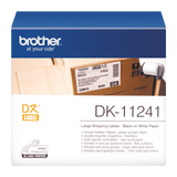Brother DK-11241 102mm x 152mm Large Shipping Label Roll (Black On White)
