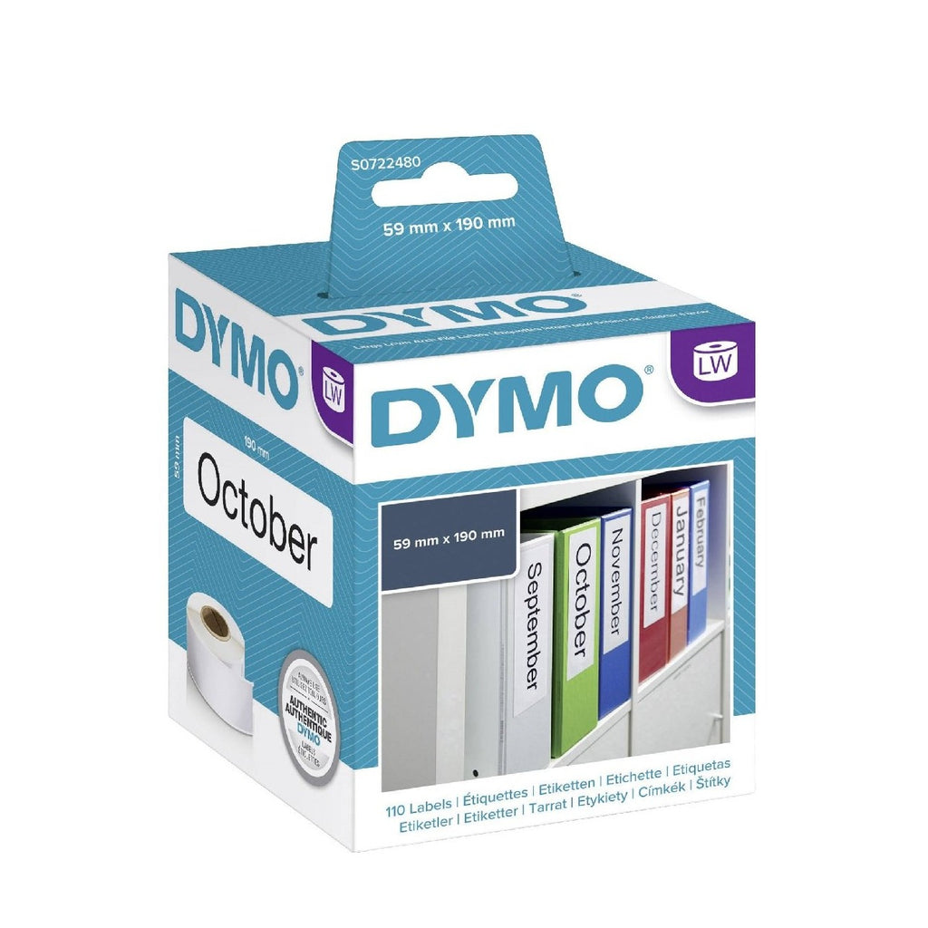 Dymo 99019 Large Lever Archive File Labels 190mm x 59mm