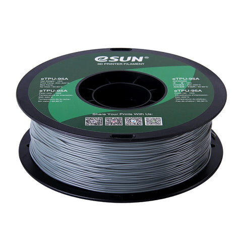eSUN 3D Grey 1.75mm eTPU-95A Flexible Filament High Quality 1KG for FDM 3D Printer
