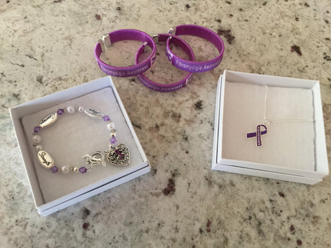 Fibromyalgia Awareness Jewelry Bundle