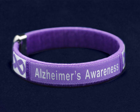 Alzheimer's Awareness Bangle Bracelet