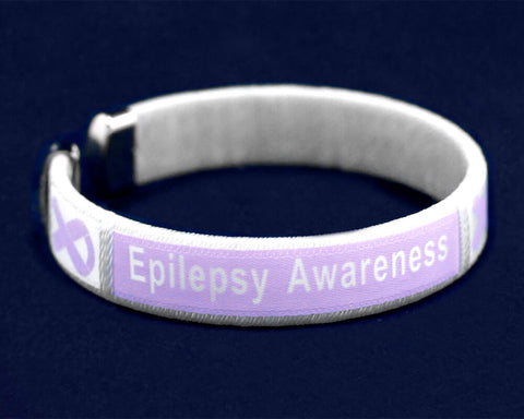 Epilepsy Awareness Bangle Bracelet