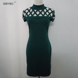 Hollow Out Elastic Bodycon Dress