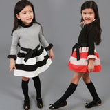 Princess Bow Stripe Dress