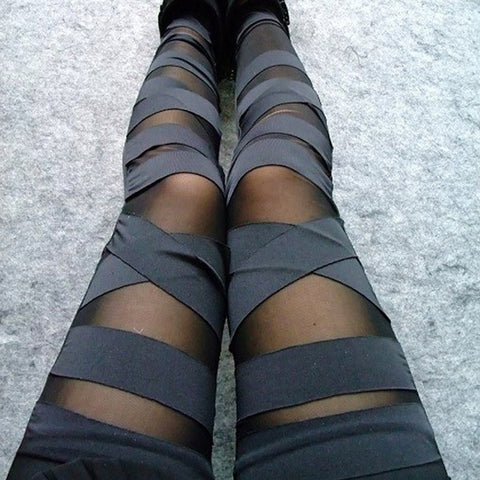 Cross-tie up Leggings