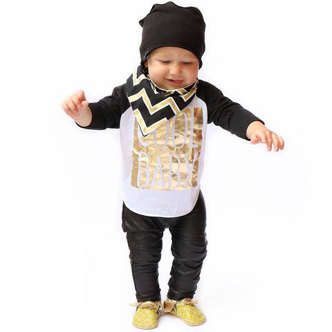 Boy's 2 piece blk/gld outfit