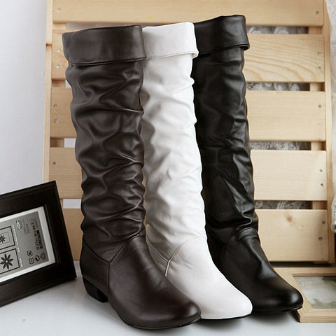 Bonded Knee-High Boots