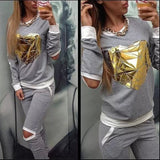Hot Gold Sweatsuit