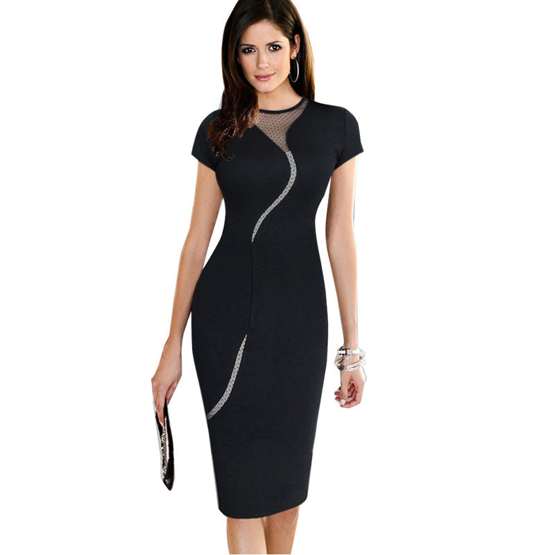 Illusion Mesh Dress