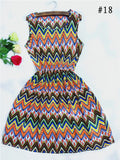 Multi-pattern Tank Dress