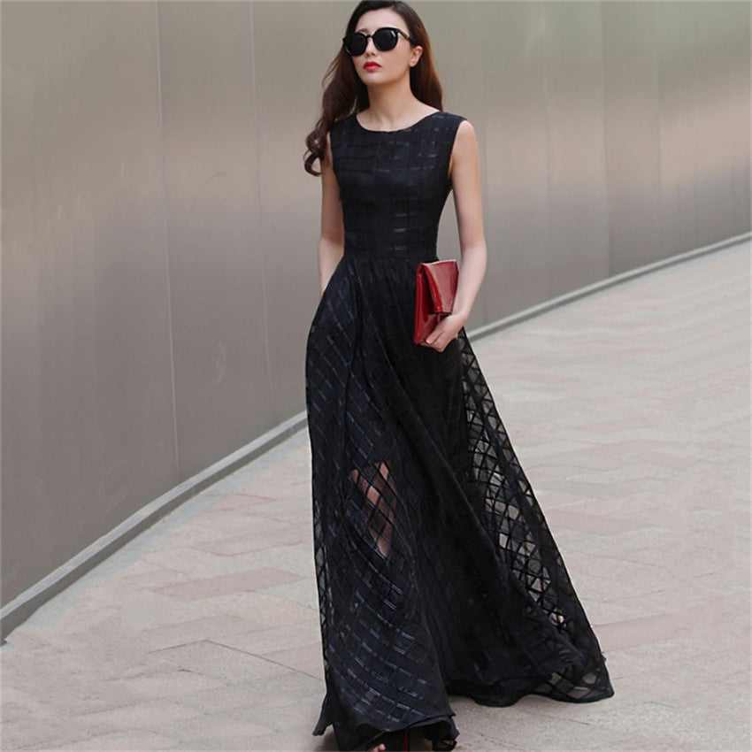 Organza Sleeveless Maxi