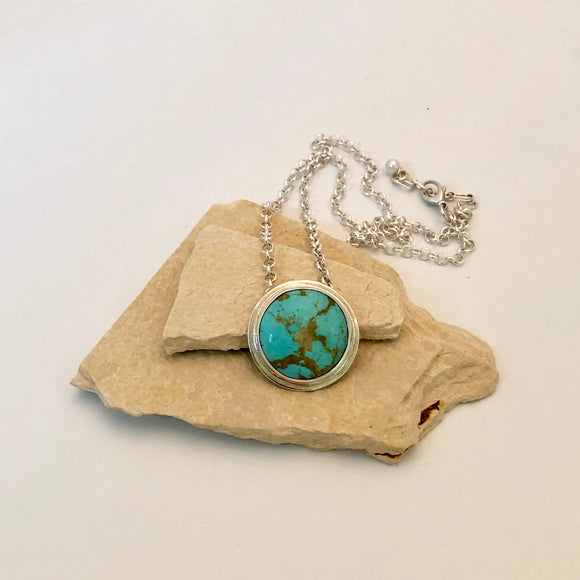 Turquoise Pendant on Silver