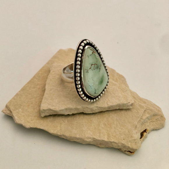 Varascite Ring with Beaded Accent