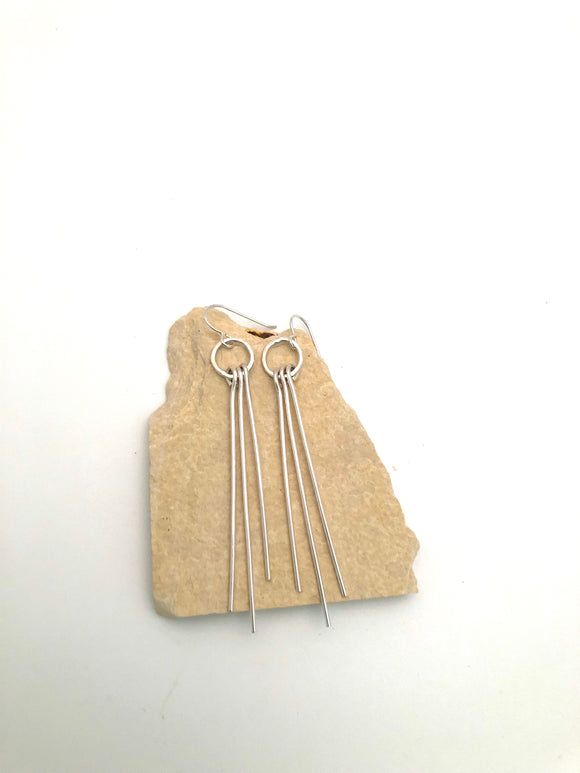 Silver Fringe Earrings
