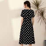 Ruby Polka Dot Dress