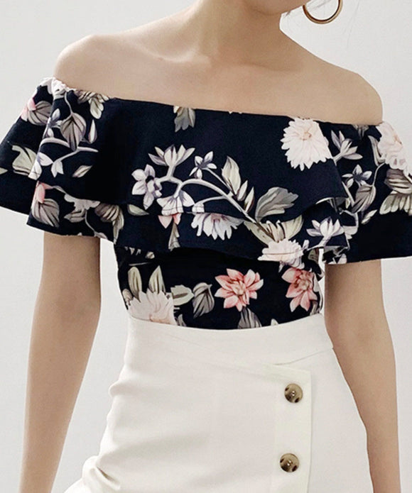 Selena Off Shoulder Floral Top
