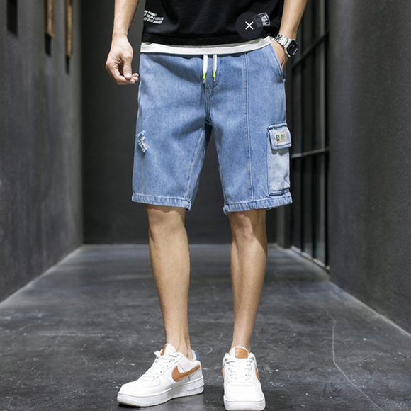 Keith Drawstring Denim Shorts