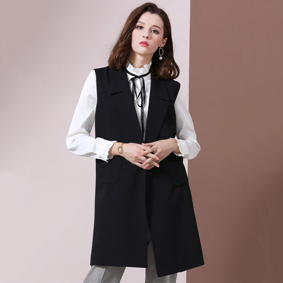 Deylene Long Trench Vest