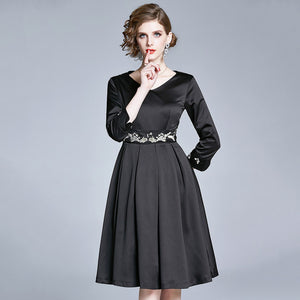 Sylvie Long Sleeves Dress (Non-Returnable)