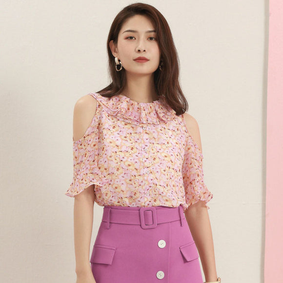 Avery Floral Chiffon Top