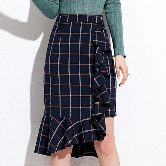 Janessa Checked Skirt