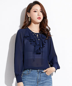 Valerie V Neck Chiffon Top (Non-Returnable)