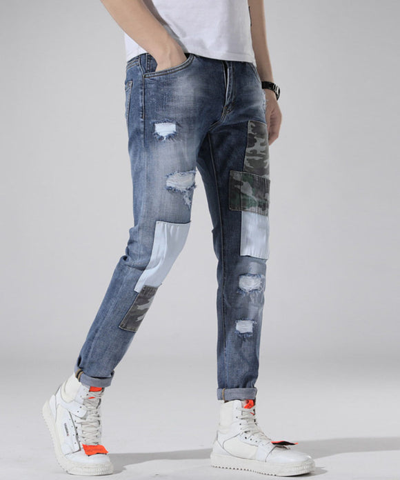 Carson Ripped Patch Jeans