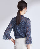 Bernadette Chiffon Dot Blouse Top