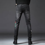 Christopher Embroidery Slim Fit Jeans (Non-Returnable)