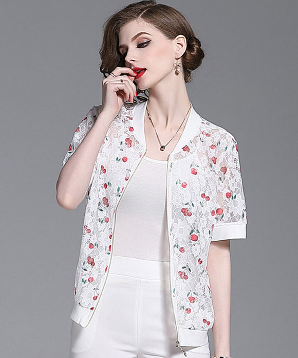 Ellie Short Sleeve Lace Jacket