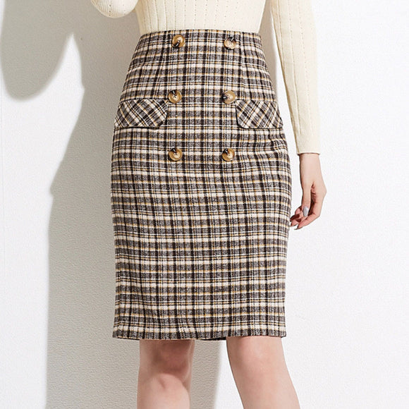 Avah Checked Skirt