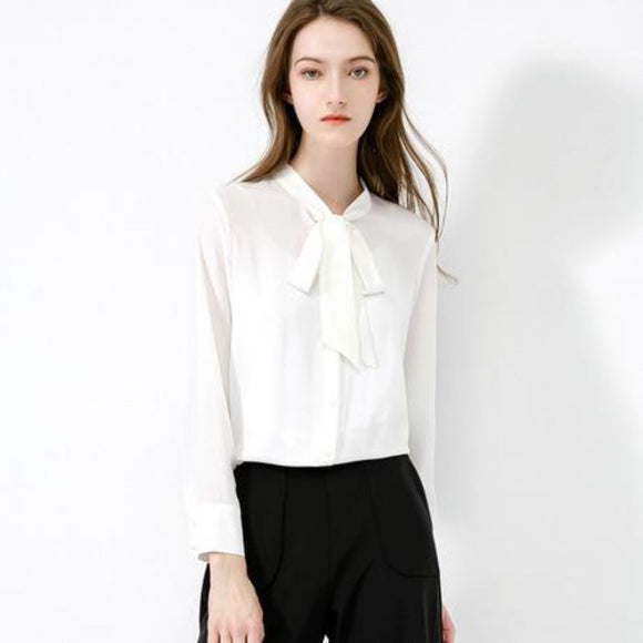 Ava Bow Blouse