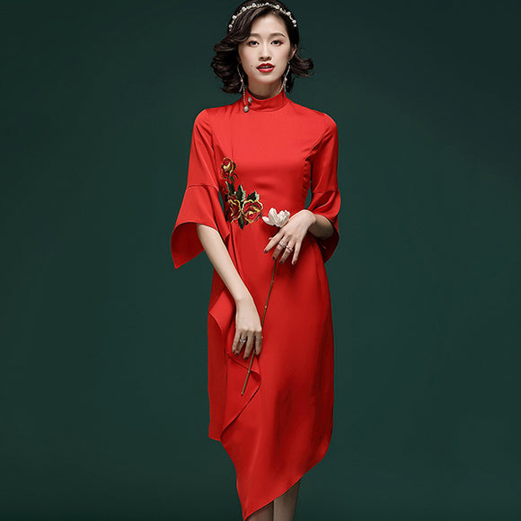 Sandy Embroidery Cheongsam
