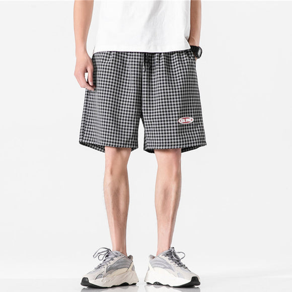 Davin Checkered Drawstring Shorts