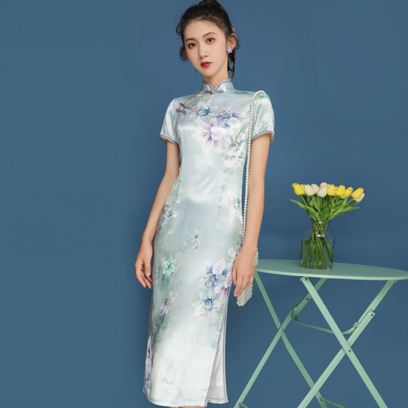 Caroline Knee Length Cheongsam