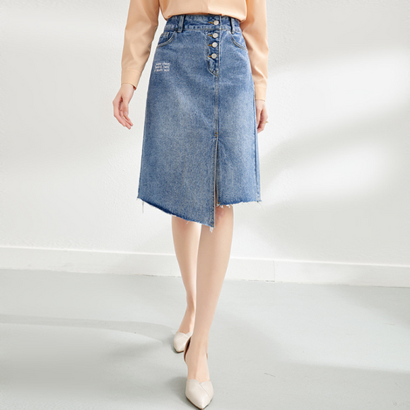 Penelope High Waist Denim Skirt