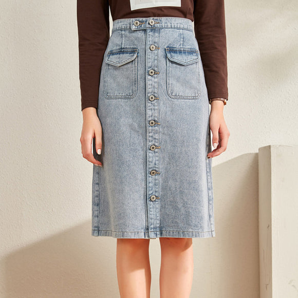 Tiffanie Denim Midi Skirt