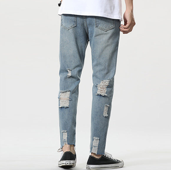 Gray Rips Jeans