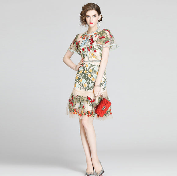 Fyodora Embroidery Dress
