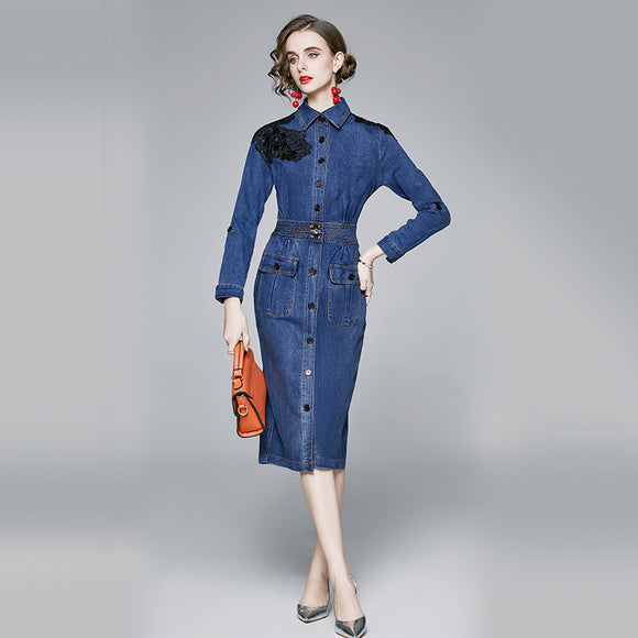 Zaina Denim Dress