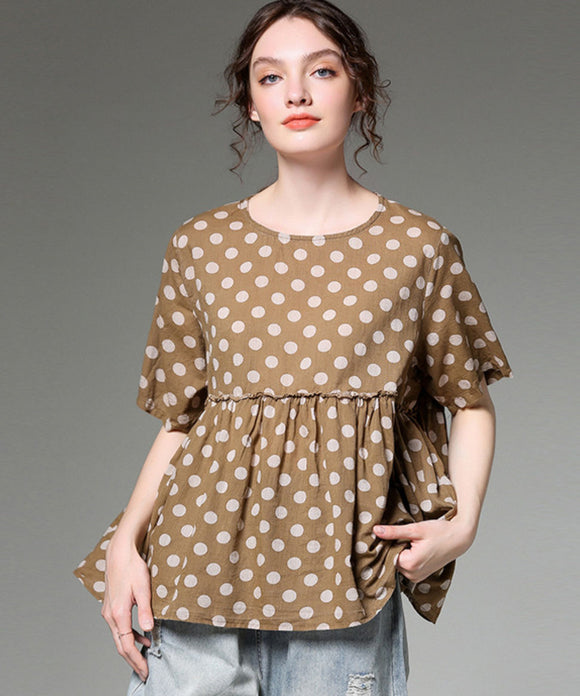 Sherry Dot Printed Top