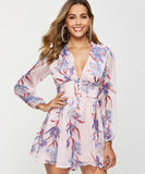 Mariah V Neck Chiffon Rompers (Non-Returnable)
