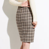 Avah Checked Skirt (Non-Returnable)