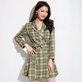 Madeline Checked Coat Dress (Non-Returnable)