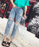 Josephine Boyfriend Ripped Cut-Off Jeans (Non-Returnable)