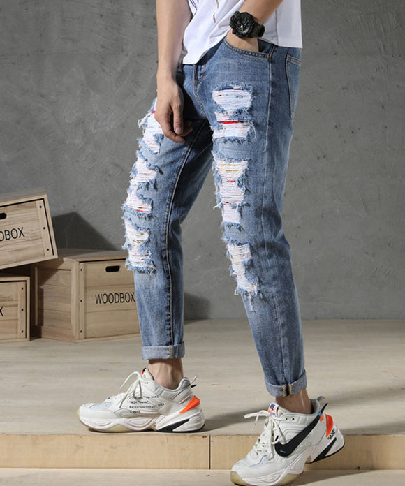 Matias Ripped Slim Fit Jeans