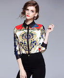 Ariadne Printed Shirt Top (Non-Returnable)