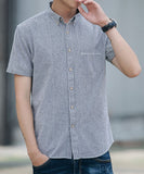 Colin Striped Short Sleeve Shirt (Non-Returnable)