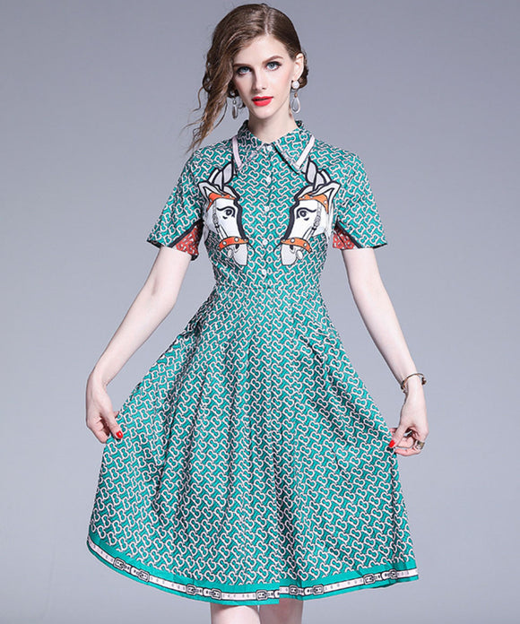 Alina Printed Dress
